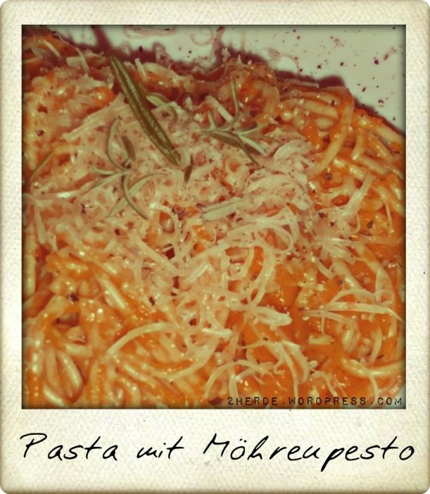 Pasta mit Möhren-Pesto