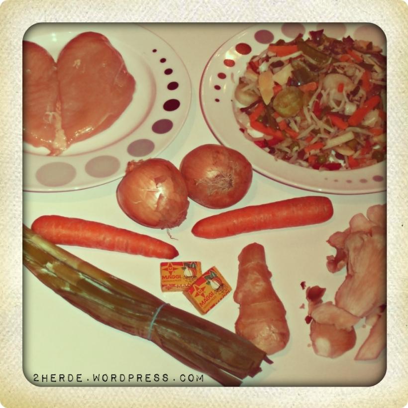 Asiatisches Reisnudel-Huhn-Süppchen - Die Zutaten