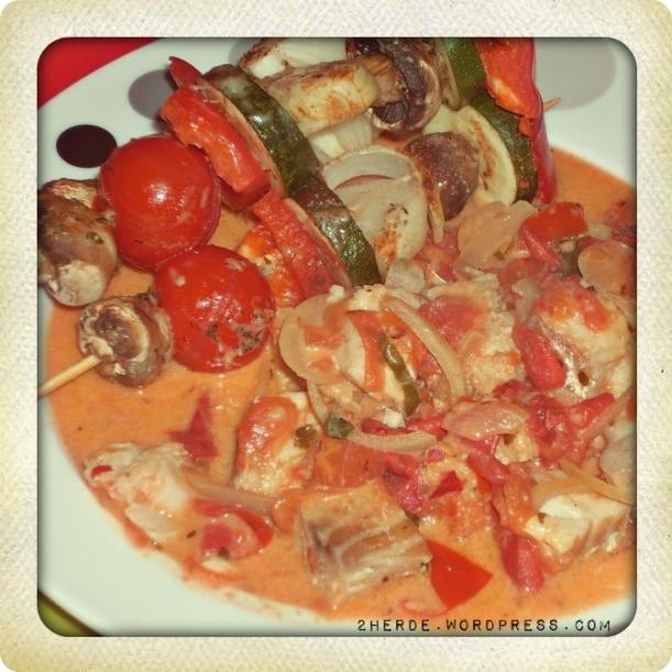 Fischpfanne mit Gemüsespießen 2