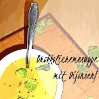 Brokkolicremesuppe mit Dijonsenf