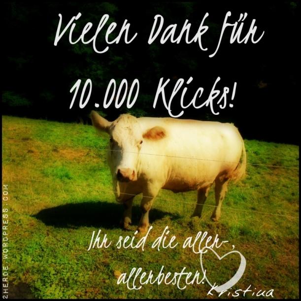 Danke für 10.000 Klicks Kuh klein