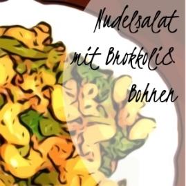 Crossover-Nudelsalatmit Hackfleisch, Brokkoli und Bohnen